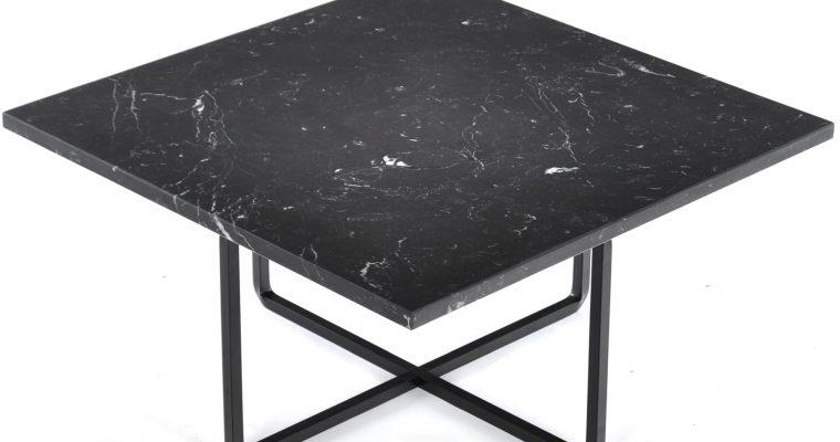 OxDenmarq Salontafel Ninety – L60 X B60 X H30 – Zwart Onderstel – Zwart Marmer |