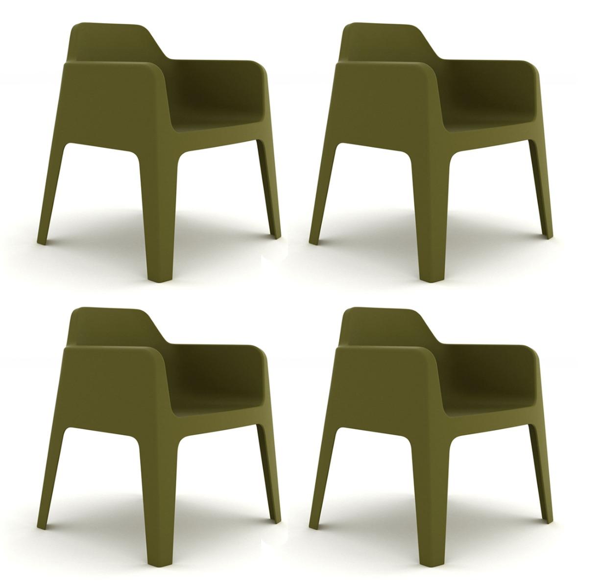 Pedrali Plus 630 Tuinstoel – Set Van 4 – Groen | 8718692421011