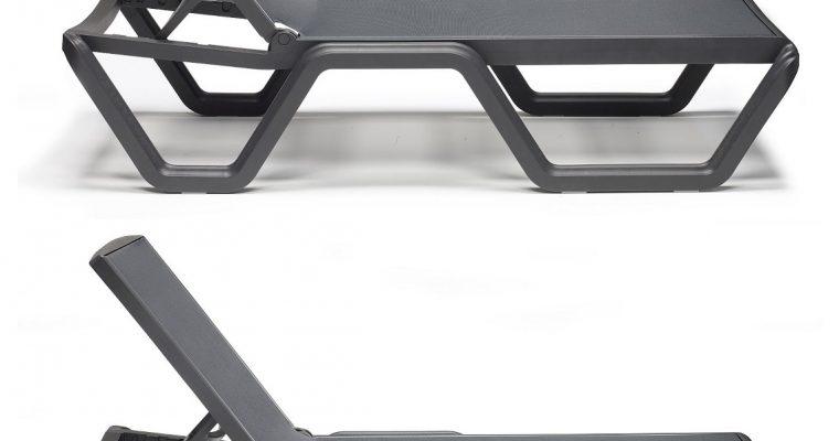 SCAB Vela Verstelbaar Ligbed Met Wielen 194x69x43 – Set Van 2 – Antraciet Grijs | 8720195952343