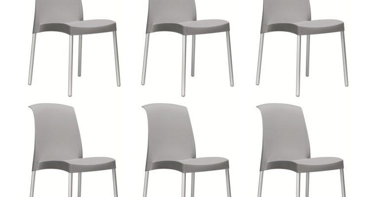Set 6 SCAB Design Stoelen Jenny – Lichtgrijs | 8005733020808