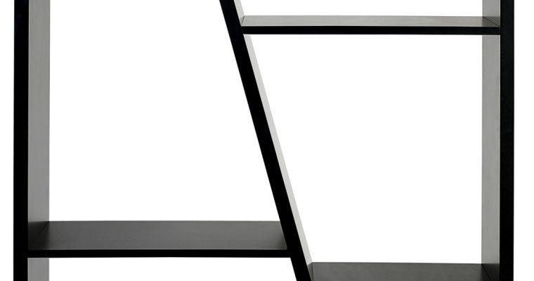 TemaHome Open Boekenkast Delta 002 – B97 X D30 X H195 Cm – Mat Zwart | 5603449315398
