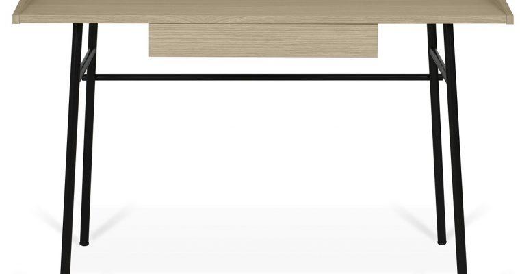 TemaHome Ply Bureau 1-Lade – 120x60x76 – Eiken – Zwart Metalen Onderstel | 5603449053979