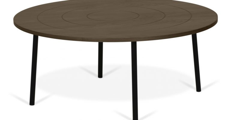 TemaHome Ply Salontafel -Ø80xH35 Cm – Walnoot | 8720143248429