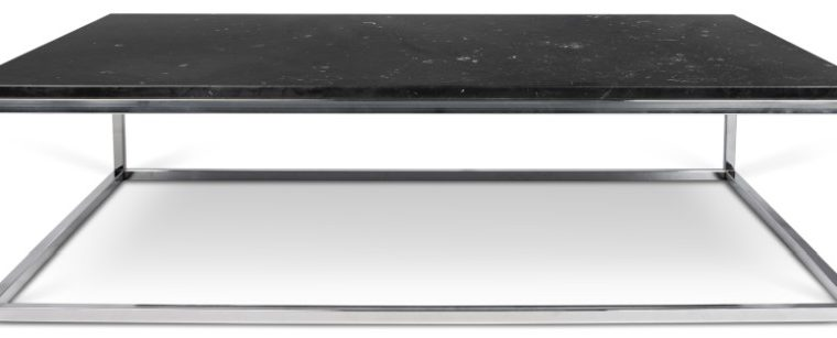 TemaHome Prairie Salontafel – L120 X B75 X H35 Cm – Zwart Marmer Tafelblad – Chromen Frame | 5603449624926