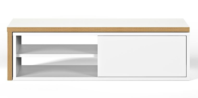 TemaHome Uitschuifbaar TV Meubel Move – 110/203x35x32 – Mat Wit | 5603449639197