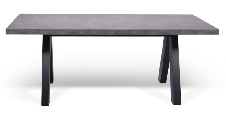 TemaHome Uitschuifbare Tafel Apex 200/250x100x76 – Grijs beton Look Blad   5603449613173