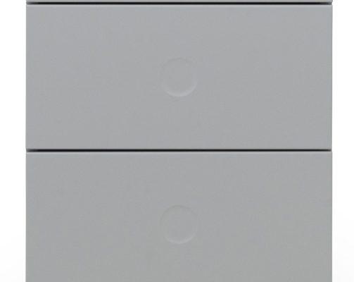 Tenzo Dot Nachtkastje 3-Laden 40x43x79 – Grijs – Eiken Poten | 8720143245800