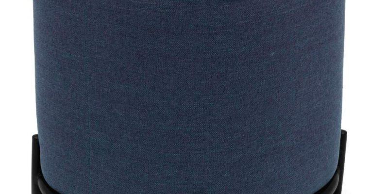 Tenzo Harry Poef – Stof Blauw – B42 X D42 X H46 Cm – Zwarte Metalen Poten | 7394084082728