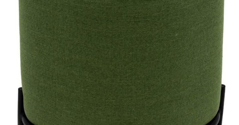 Tenzo Harry Poef – Stof Groen – B42 X D42 X H46 Cm – Zwarte Metalen Poten | 7394084082735