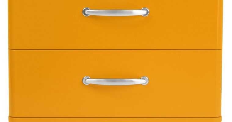 Tenzo Malibu Ladekastje – 2-Laden – B60 X D41 X H54 Cm – Oranje | 7394084065844