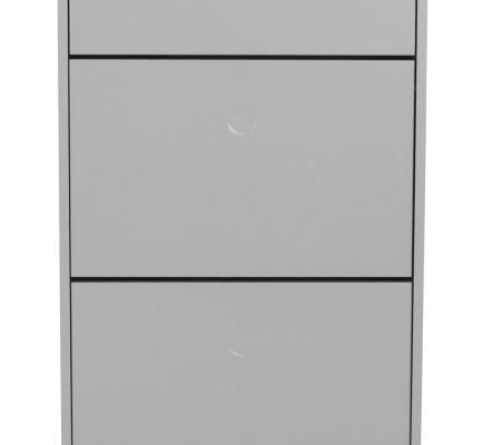 Tenzo Schoenenkast Dot 3-Vakken – 57.5x24x128 – Grijs – Eiken Poten | 7394084079872