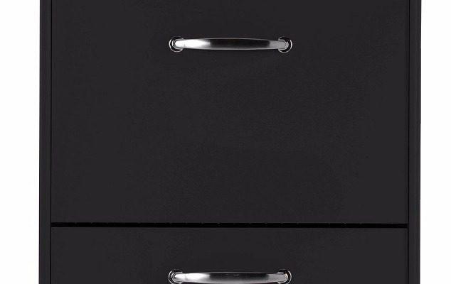 Tenzo Schoenenkast Malibu 3-Deurs – B58 X D24 X H121 – Zwart | 7394084032143