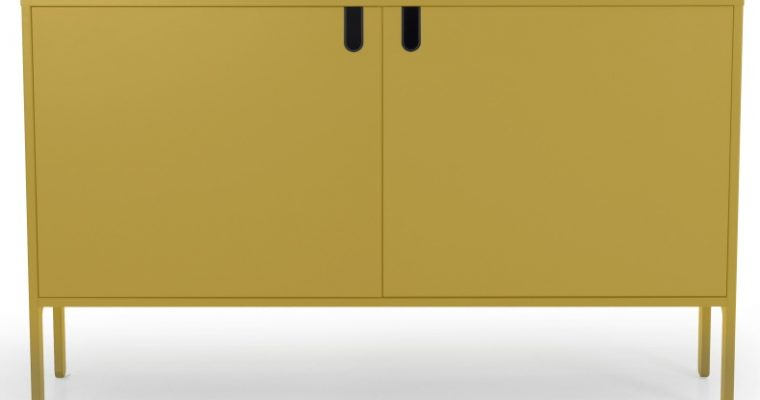 Tenzo UNO Dressoir – 2-Deurs – 148x40x89 – Mosterdgeel |