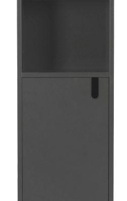 Tenzo UNO Kast – 1-Deur/2-Vakken – 40x40x152 – Grijs | 8720143246074