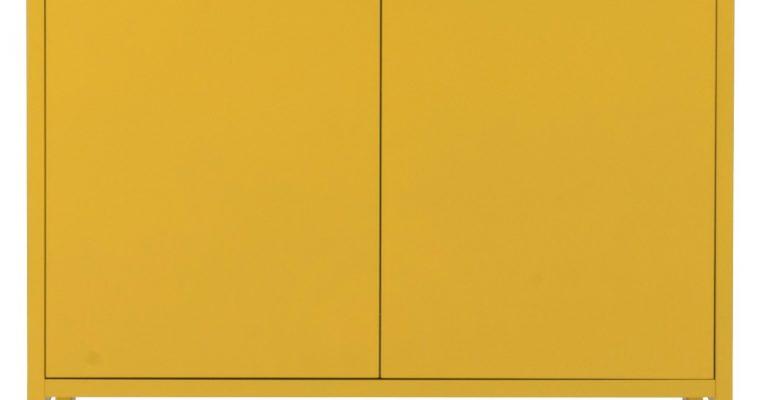 Tenzo UNO Kast – 2-Deurs – 76x40x89 – Mosterdgeel |
