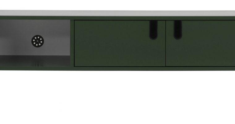 Tenzo UNO TV-meubel 2-Deurs – 1-Vak – 137x40x50 – Bosgroen |