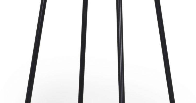 Tenzo Vierkante Bartafel Flow 80x80x105 – Eiken Tafelblad – Metalen Poten   7394084075744