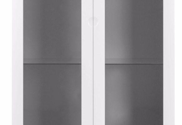 Tenzo Vitrinekast Dot 2-Deurs/2-Laden 79x43x178.5 – Wit – Eiken Poten | 7394084072330