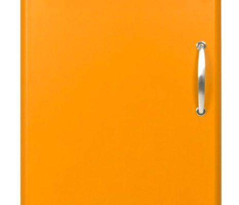 Tenzo Vitrinekast Malibu Small 1-Deurs – B50 X D41 X H143 – Oranje | 7394084052400