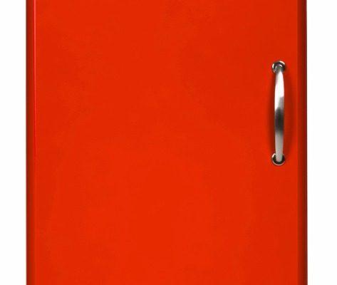 Tenzo Vitrinekast Malibu Small 1-Deurs – B50 X D41 X H143 – Rood | 7394084066018