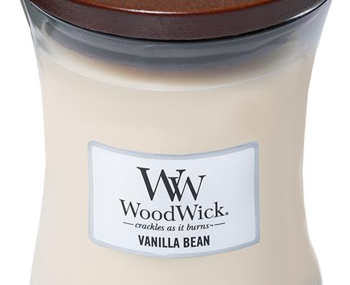 Woodwick Vanilla Bean Medium kaars   92112E   Woodwick