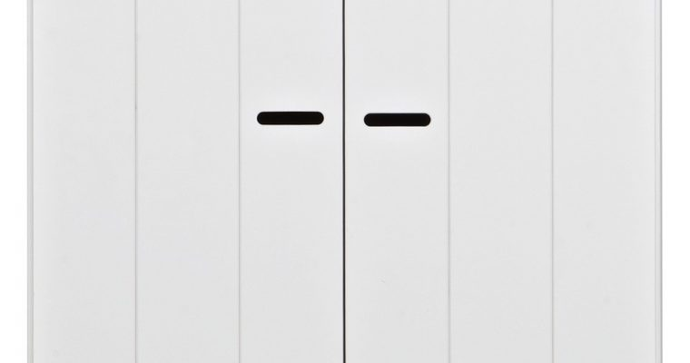 Woood Kast Connect – 2 Strokendeuren – 2 Laden + Interieurpakket – Wit | 8714713036868