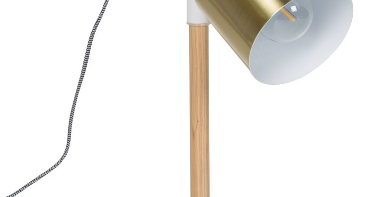Zuiver Tafellamp Ivy -Ø20 X H60 Cm – Wit   8718548031968