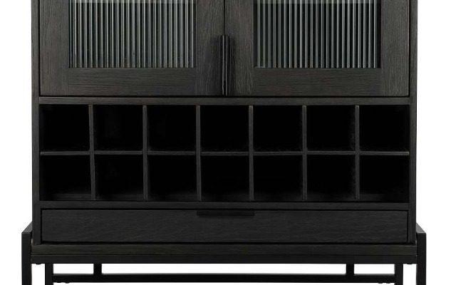 Zuiver Travis Kast – 88,5 X 46,5 X 180,5 Cm – Zwart Eiken | 8718548041196