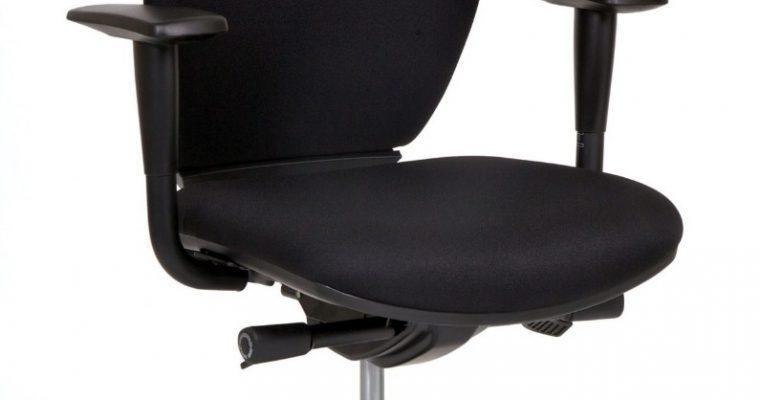 24Designs Seaton Economy Bureaustoel EN1335 – Stof Zwart – Zwart Onderstel   8719323474758