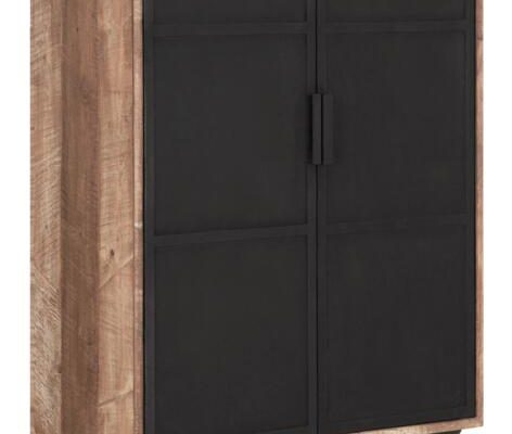 24Designs Odeon Opbergkast – B80 X D40 X H150 Cm – Teakhout | 8720195958673