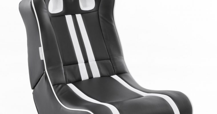24Designs Racestoel Gamestoel Monaco – Bluetooth&Speakers – Zwart / Wit | 8719323478503