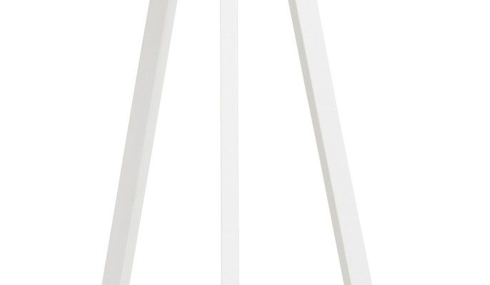 24Designs Vloerlamp Leya – Hoogte 159 Cm – Zwarte Lampenkap – Wit Metaal | 8719874340465
