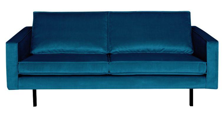 BePureHome Bank 2,5-zits 'Rodeo' Velvet, kleur Blauw | 8714713065509