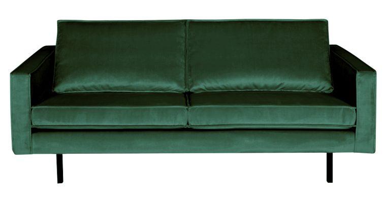 BePureHome Bank 2,5-zits 'Rodeo' Velvet, kleur Forest Green | 8714713065530