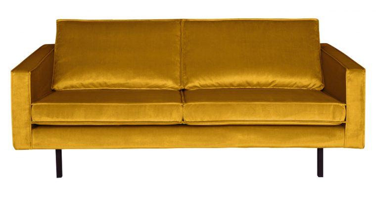 BePureHome Bank 2,5-zits 'Rodeo' Velvet, kleur Oker | 8714713065486