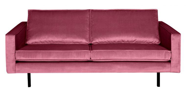 BePureHome Bank 2,5-zits 'Rodeo' Velvet, kleur Roze | 8714713065585