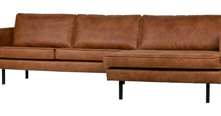 BePureHome Loungebank 'Rodeo' Rechts, Eco Leder, kleur Cognac | 8714713082926