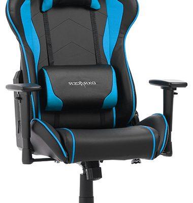 DXRacer Formula-series Game&Bureaustoel – Zwart/Blauw PU | 8719874349826