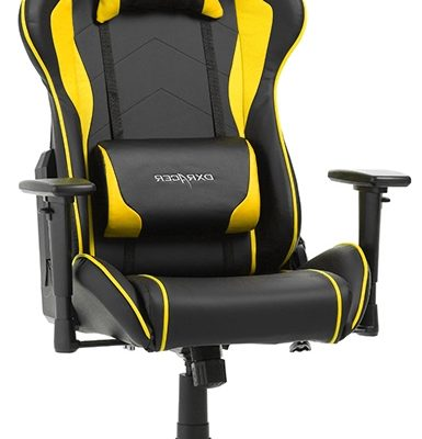 DXRacer Formula-series Game&Bureaustoel – Zwart/Geel PU | 8719172346091