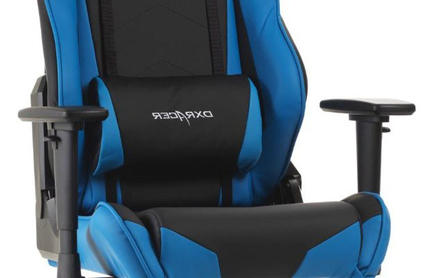 DXRacer Racing-series Game&Bureaustoel – Zwart/Blauw PU | 8719323474307