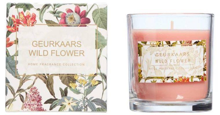 Geurkaars Wild Flower Transparant