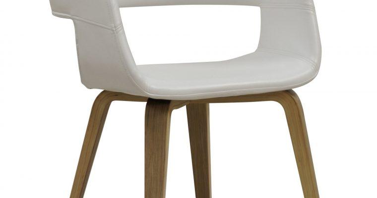 Interstil Eetkamerstoel 'Nova', kleur wit / hout | 5706553426445