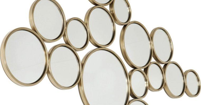 Kare Design Bubbles Spiegel – B138xH93 Cm – Messing Goud | 4025621841326