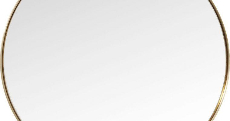 Kare Design Curve Spiegel Rond -Ø100cm – Messing | 4025621827184