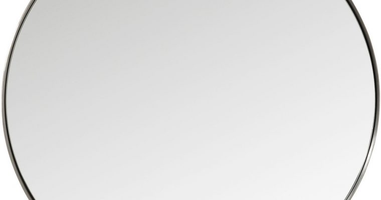 Kare Design Curve Spiegel Rond -Ø100cm – Metaal | 4025621827177