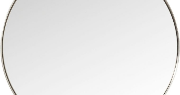 Kare Design Curve Spiegel Rond -Ø100cm – RVS | 4025621827153