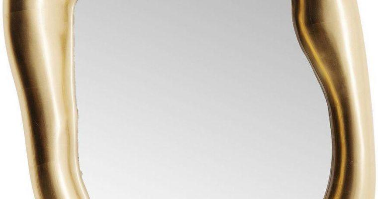 Kare Design Hologram Spiegel – B68 X D9 X H117 Cm – Mat Goudkleurig | 4025621832072