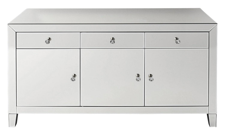 Kare Design Luxury Dressoir 3-deuren/3-lades – B140,5xD45xH77 Cm – Spiegelglas | 4025621808961