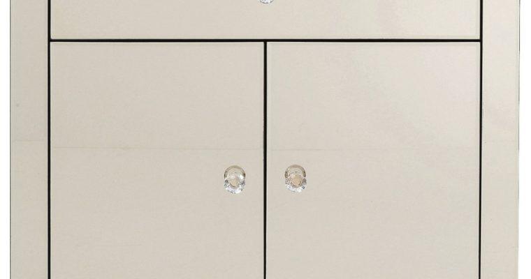 Kare Design Luxury Opbergkast 2-Deuren/1-Lade – B71xD41xH76 Cm – Spiegelglas Champagne   4025621838913