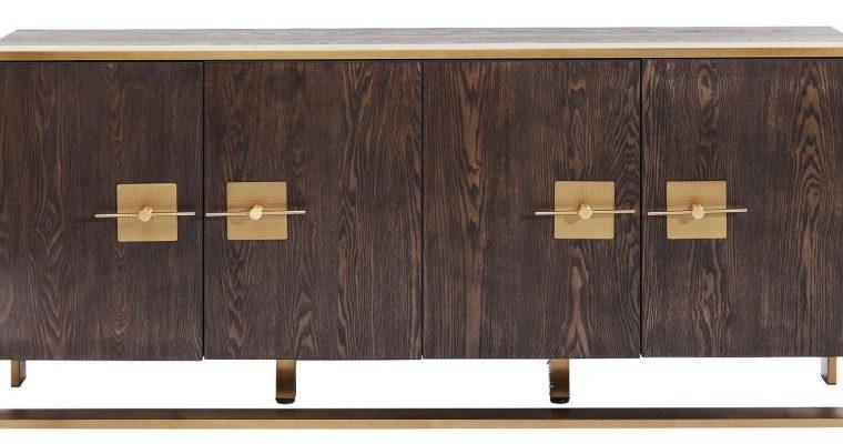 Kare Design – Osaka Dressoir – 4 Deurs – 180x40x80 – Essenhout   4025621838746